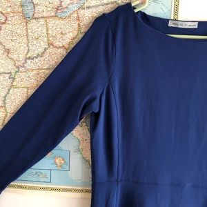 Athleta Dresses - Athleta Blue Dress Long Sleeve Size MEDIUM TALL
